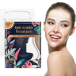 16 Pieces Face Wrinkle Patches,Anti-Wrinkle Facial Pads, 100% Medical-Grade Silicone, Reducing and Smoothing Wrinkles Around Forehead, Eye, Mouth & Upper Lip
