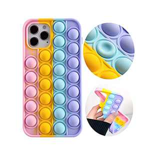 Push Sensory Fidget Case for iPhone11,Bubble Pop Fidget case,Stress Reliever Silicon Phone Case for Girls Boys Adults,Push Bubble Soft Silicone Pop Shockproof Protecive Case for iPhone 6.1inch