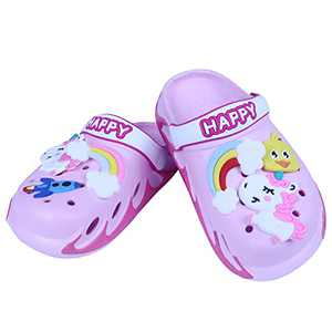 KUBUA Kids Garden Clogs Slip On Water Shoes for Boys Girls Rose