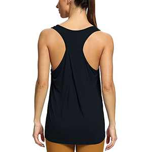 altiland Racerback Workout Tank Tops for Women Athletic Yoga Running Gym Muscle Shirts (Black, Small)