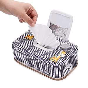 Baby Wipe Warmer with 3 Heating Modes, Portable Baby Wipe Holder Case, Wipes Dispenser, Auto-Off After 60 Minutes, Farewell Cold Baby Wipes for Changing Diaper, Power by USB Adapter/Powerbank 5V 2A