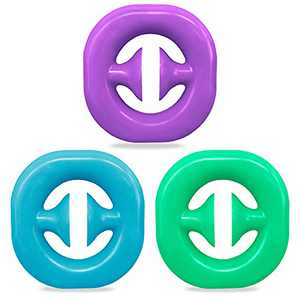 3 Pack Snapper Fidget Toy Anxiety Stress Relief Toys Kids and Adult Stress Reliever Silicone Toys (Blue, Green, Purple)