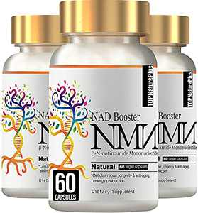3PACK NMN Stabilized Form Supplement, Nicotinamide Mononucleotide Capsules for Supports Anti-Aging, Longevity and Energy, Naturally Boost NAD+ Levels - 60 Capsules