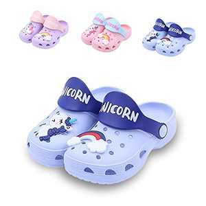 Kids Unicorn Clogs Boys Girls Slippers Summer Kids Lightweight Sandals Shockproof Non-Slip Garden Shoes Slip on Beach Slipper…