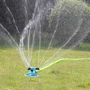 BFSAUHA Lawn Sprinkler, Automatic Garden Water Sprinkler, Upgrade 360 Degree Rotation Irrigation System, Large Area Coverage, Sprinkler for Yard, Lawn, Kids and Garden (Blue)