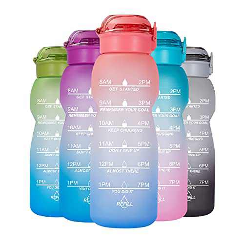 NOOFORMER 50oz/0.4 Gallon Water Bottle Motivational with Time Marker, Water Tracker Bottles with Times to Drink Leakproof Water Jug Ensure You Drink Daily Water Throughout The Fitness Day