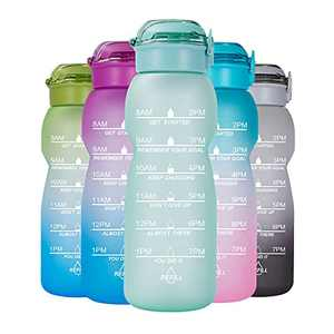 NOOFORMER 50 oz Water Bottle Motivational with Time Marker, Water Tracker Bottles with Times to Drink Leakproof Water Jug Ensure You Drink Daily Water Throughout The Fitness Day