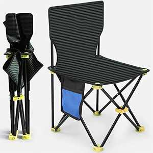 Camping Folding Chair - Outdoor Mini Portable Folding Stool,Outdoor Folding Chair for Camping,Fishing,Travel,Hiking,Garden,Beach, Quickly-Fold Chair() (L)