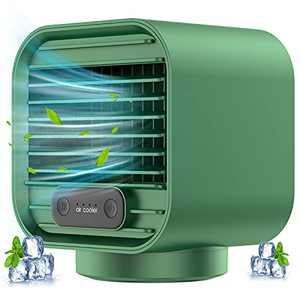 Personal Air Conditioner, Mini AC Portable Air Conditioner Rechargeable 2000mAh Evaporative Cooling Fan with 3 Speeds 100% Leakproof Design for Home Office, Car, Camping Tent