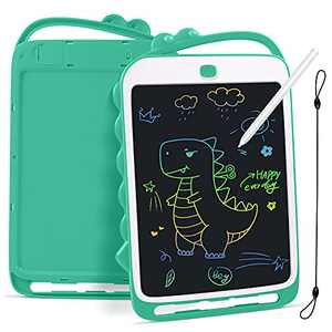 Feneya LCD Writing Tablet, 10 Inch Toddler Doodle Board with Rope, Educational and Learning Toys, Reusable Colorful Board Drawing Tablet for Kids 3-8 Years Old Boy Girls (Green)