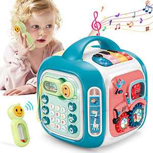 OCATO Baby Toys 12-18 Months Baby Activity Cube Infant Toys Gifts for 1 2 3 Year Old Boys Girls Kids Toddlers Learning Educational Toys All in One Baby Musical Toys for Toddlers 1-3 Birthday Gifts