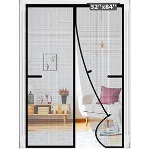 """Magnetic Screen Door Tight Self Closing Magnetic Seal, Heavy Duty, Hands Free, Pet & Kid Friendly Door Mesh Fits Door Size up to 50""""x83"""""""