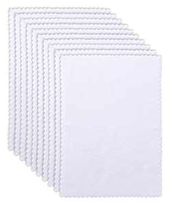 """10 Pack Burp Cloths - Ultra Absorbent Large 16"""" by 12"""" - Baby Hand Wash Cloth Extra Absorbent and Soft - Milk Spit Up Rag - Baby Newborn Care Essentials White"""