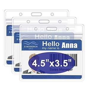 """CDC Vaccine Card Protector, 4.5 x 3.5"""" Vaccination Card Holder, 3 Pack Immunization Card Record ID Name Badge Holder,Waterproof Clear Plastic Vinyl Sleeve with Resealable Zip"""