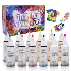 Tie Dye Kit, Conzy 12 Colors Fabric Dye Art Kit for Kids, Adults DIY Tie Dye Set for Clothing Craft Fabric Textile All in One Creative Tie-Dye Kit Perfect for Party Group Activity