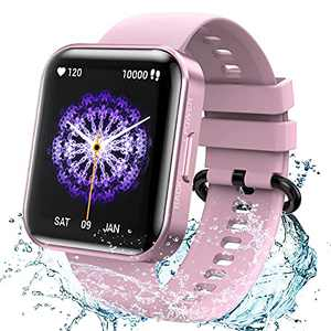 KOSPET Magic 3 1.71 inch 3D Curved Full Touch Screen Smartwatch 20 Sports Modes Real Blood Oxygen Blood Pressure Test,Heart Rate and Sleep Monitoring IP68 Waterproof Bluetooth 5.0 - Violet Pink