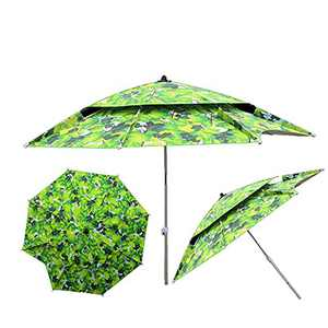 7.21ft Portable Beach Umbrella Sun Shade Umbrella with Sand Anchor & Tilt Mechanism Outdoor Umbrella Double-Layer Universal Reinforcement Waterproof and Sun Protection Can Be Used for rPatio Outdoor, Fishing, Picnics, Camping, Beaches, Parks