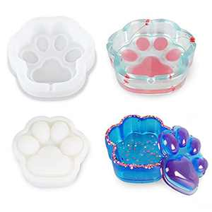 Resin Molds Cat Claw Series 2 PCS, Resin Molds Ashtray, Jewelry Box Resin Mold, Used for Epoxy Resin Molds Resin Casting,DIY Resin Mold Handicraft Production,Home Decoration, Jewelry Storage