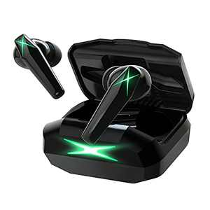 Wireless Earbuds Games Bluetooth Headphones 5.0-Sport Earphones,Waterproof,Deep Bass,Touch Control,in Ear W/Mic,USB-C Charging Case,26h Playback for iPhone and Android (Black)