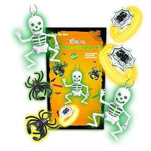 Shemira Halloween Glow Party Favors for Kids, 35pcs Glow Halloween Toys for Halloween Goodie, Trick or Treating, Halloween Miniatures, Halloween Wearable Kit, School Classroom Game Rewards
