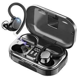 Wireless Earbuds, iporachx Bluetooth 5.0 Sport Headphones True Wireless Earphones 56H Playtime, In-Ear Headphones Stereo Sound Running Earhooks Headsets with IPX7 Waterproof for Gym Fitness[2021]