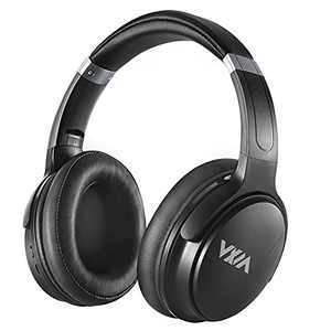 WXM Active Noise Canceling Headphones Bluetooth5.0 Headphones On-Ear with Mic, 40mm Driver Deep HiFi Bass Wireless Wired Headsets 30 Hours Playtime for Travel, Online Class, Work Black
