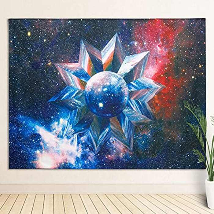 SUCHDECO Wall Hanging Tapestry, Galaxy Tapestry for Bedroom Aesthetic, Psychedelic Fabric Tapestry for Bedroom Living Room Dorm(51.18x59''/130x150cm)