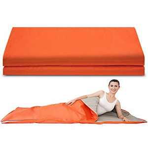 "Verniflloga Sauna Blanket Infrared,78"" /39"" Length, Personal Sauna Blanket (with Button Battery) (Orange)"