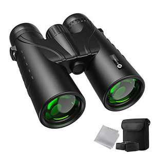 Slopehill Binoculars,12x42 Binoculars for Adults and Kids, IPX7 Waterproof Binoculars with BAK4 Prism and Multiple FMC Lens Coating for Bird Watching, Hunting, Hiking, Sports