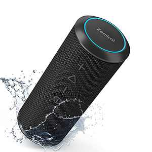 【2021 Newest】 Zamkol Bluetooth Speaker, 24W Speakers Bluetooth Wireless with Deep Bass and Loud Sound, 15H Playtime, IPX6 Waterproof, TWS, Built-in Mic, Portable Bluetooth Speakers for Home Outdoor