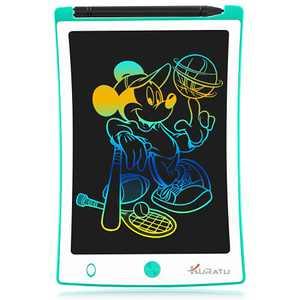 KURATU LCD Writing Tablets 8.5 inch Colorful Screen Electronic Drawing Board Kids Toys Writing Board & Drawing Tablet Doodle Board Writing Tablets, (Green)
