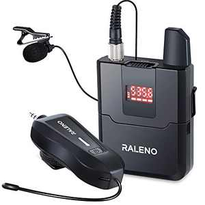 RALENO Wireless Lavalier Microphone, UHF Wireless Lapel Microphone, Good Choice for Sony, Canon, Nikon, Smartphone, Recording for YouTube, Video, Vlog, Interview