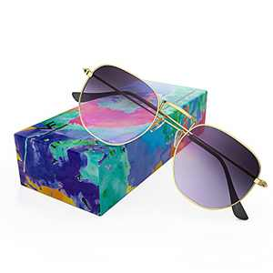 VOFO VISION Polarized Small Hexagon Sunglasses for Women Men UV Protection,Trendy Vintage Round Sunglasses VF7601