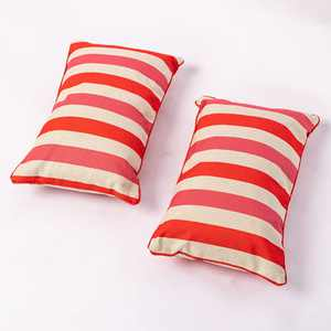 """Insert Included Outdoor Fall Pillows Waterproof, Striped Lumbar Pillow Set of 2, All-Season Outdoor Cushions for Patio Furniture, Pool Pillows, Outside Pillows Waterproof, Patio Cushions (12""""x20"""")"""