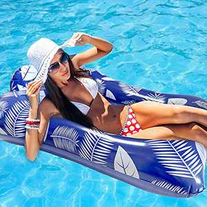 Pool Floats Adults - Pool Loungers and Floats for Adults, Swimming Pool Hammock Floats with Pump