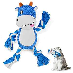 Durable Squeaky Plush Dog Toy, Pweituoet Washable Cute Stuffed Dog Toy for Puppy - Interactive Chew Toys for Small Medium Dog