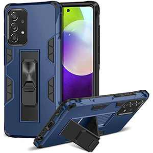 ELOVEN for Samsung Galaxy A52 5G Case with Built-in Kickstand Dual Layer Protective Cases Shock Abosorption Rugged Bumper Hard PC Case Work with Car Mount Phone Cover for Samsung Galaxy A52 5G Blue