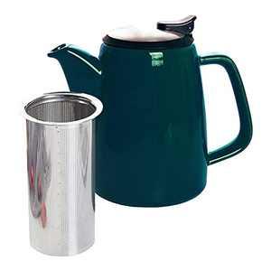 GRACIRI Ceramic Large Teapot, 32oz Tea Pots with Infusers for Loose Tea, Blackish Green China Porcelain Teapot Gift for Tea Lover 920ml (4-6 Cups)