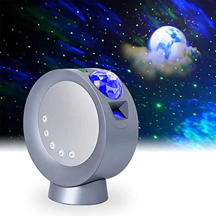 LooEooDoo LED Star Projector Light, Galaxy Lighting, Moon Nebula Night Lamp with Base, Remote Control and 2000mAh Battery Operated for Gaming Room, Home Theater, Bedroom , or Mood Ambiance (Blue)