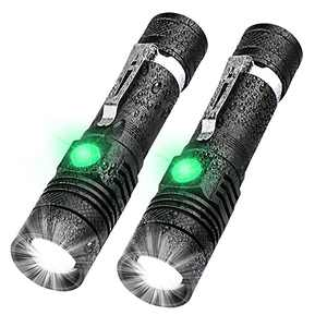 USB Rechargeable Flashlight, Super Bright Tactical Flashlight, Zoomable, Water Resistant, Small Pocket LED Flashlight for Camping, Tactical, Emergency