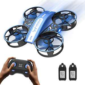NEHEME NH330 Mini Drones for Kids Beginners Adults, RC Small Helicopter Quadcopter with Headless Mode, Throw to Go, Altitude Hold, 3D Flip and 2 Batteries, Remote Control Toys for Boys Girls Blue