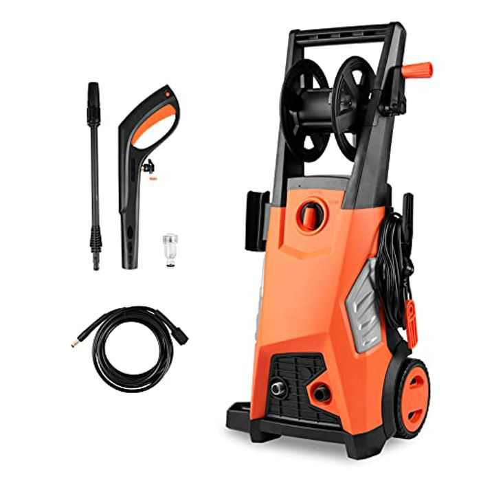 2000W Pressure Washer 150bar Max Pressure Electric Power Washer with Removable Detergent Bottle For Home,Patio and Car Cleaning