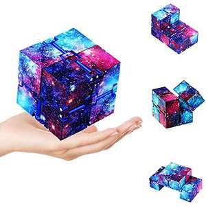 Gleeya Infinity Cube Toy, Cubes Puzzle Accessories Toy Relieve Stress Anxiety Relief and Kill Time Sensory Autism Relief Mini Finger Toys for Kids Adults