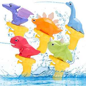 NXA Water Guns Powerful Long Distance for Kids Dinosaur Super Soaker Water Gun Fighting Toy Summer Swimming Pool Party Outdoor Beach Toy for Boys Girls and Adults(5 Pack)