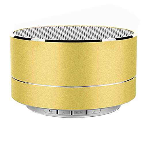 2021 Portable Wireless Bluetooth Speaker with USB Cord, HD Sound and Bass for iPhone Ipad Android Smartphone (Yellow)