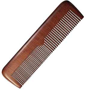 Beard Comb for Men, Black Ebony Hair Combs - Both Wide and Narrow Teeth - Styling Comb or Wet Comb for Fine or Bushy Beard, Beard Care, and Hair Care