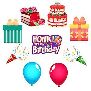 """CiniQy 9 Packs Happy Birthday Yard Sign 16"""" Waterproof Birthday Yard Decorations with Stakes Outdoor Birthday Lawn Signs Jumbo Colorful Birthday Party Decorations"""