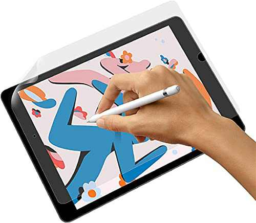 Like Paper Screen Protector Compatible with iPad Pro 12.9 Inch, Paper Feel Touch Sensitivity Screen Protector Anti Glare, Scratch Resistant, Drawing Writing Film Compatible with Apple Pencil & Face