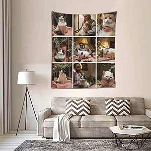 Personalized Custom Tapestry Customize Tapestries Upload Images Backdrop Tapestrys Wall Hanging Decor With Picture for Wedding Family Memorial Gift Vertical-Picture 9