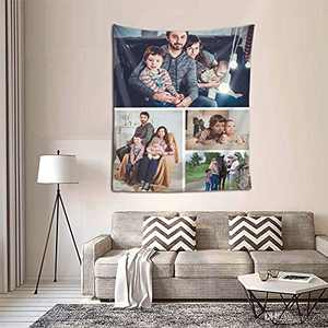 Personalized Custom Tapestry Customize Tapestries Upload Images Backdrop Wall Hanging Decor with Picture for Adult Kid Birthday Christmas Halloween Mothers Fathers Valentines Gift Ver-Picture 4
